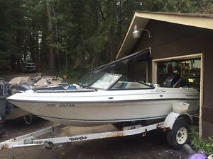 Boat, motor and trailer 90 horse merc
