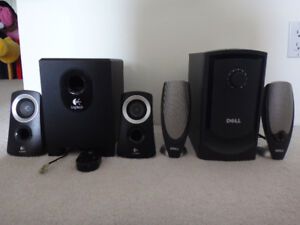 $40 Logitech Z313 and $50 DELL A425 2.1 Computer Speakers