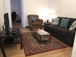 2 bedroom-McGill area, roomy and comfortable, FULLY furnished