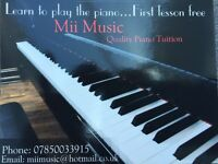 Quality piano tuition