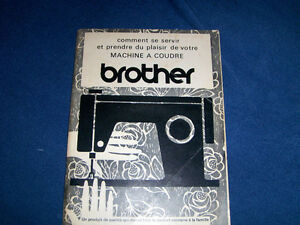 MACHINE A COUDRE BROTHER SEWING MACHINE-GUIDE BOOKLET