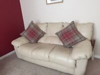 Leather sofa couch suite - 2 seater, 3seater and foot stool