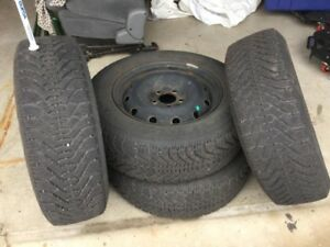 Winter tires and rims 215 65R 16