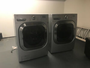 High end stainless steel LG washer and dryer