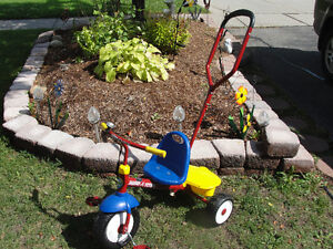 Radio Flyer Deluxe Steer & Stroll Trike / tricycle PRICED 2GO Kitchener / Waterloo Kitchener Area image 1