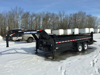 2015 SureTrac 16ft Gooseneck HD Dump Trailer $11900
