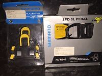 Shimano Pedal and Cleat Set