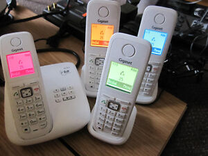 Siemens Gigaset A510A System - 4 White Handsets, like NEW, no bo