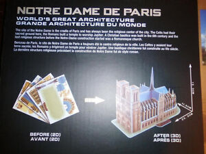 3D Puzzle - NOTRE DAME CATHEDRAL - Brand New! London Ontario image 3