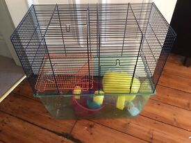 Gerbil cage and equipment