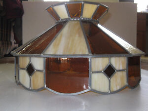 Stained glass ceiling chandelier Tiffany style