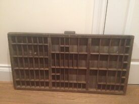 Antique wooden stamp tray