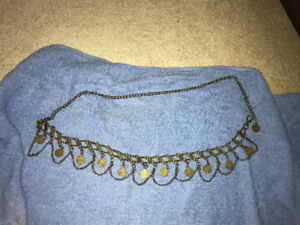 Old fashioned coins belt