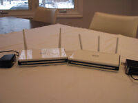 2 new D-LINK routers for 50.00 (worth 250 = tax)