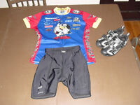Womens Femme CYCLING KIT PACKAGE shorts shoes jersey souliers