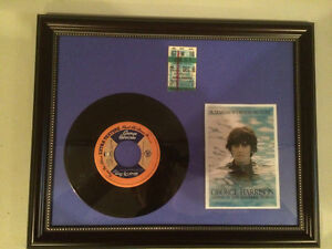 "George Harrison Framed - 45 Record ""World Of Song"""