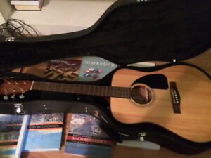 Fender CD-60 acoustic guitar with case
