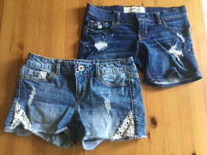 Two Pairs. Hollister and Maurices Jean Shorts. Size 00.