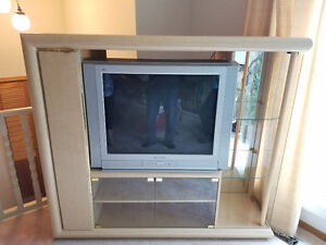 Tv Stand Entertainment Unit Free Television LCD Cabinet Glass