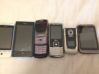 Collection of old mobile phones