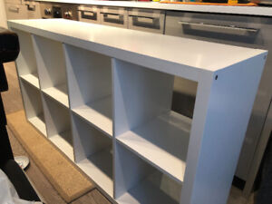 GONE !!! tall IKEA cube shelf FREE white, great condition