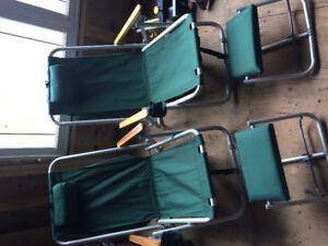 Two Adult Camp Lounge Chairs