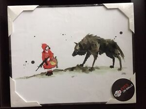 Red Riding Hood and Wolf Print