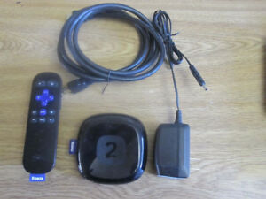 Roku 2 Streaming Box, with deluxe remote control