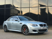 BMW M5 5.0 v10 2005 SMG IN SILVER STONE BLUE PX SWAP FINANCE WARRANTY AVAILABLE