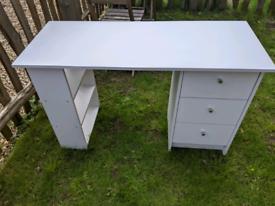 White Argos Malibu Desk with Drawers