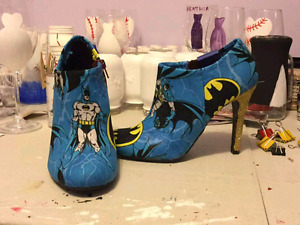 Batman shoes and clutch