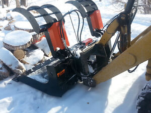 Skid Steer Snow Bucket  Pallet Forks Grapple Bucket
