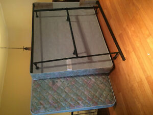 Queen Matress, Box spring, and frame