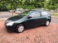 Honda Civic 2002 1.4 Petrol with Reverse Parking Sensors and 1 Year MOT £ 899