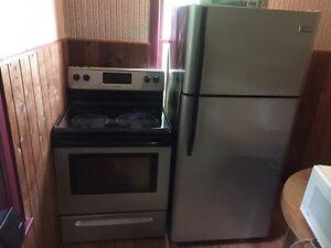 Fridge and stove set