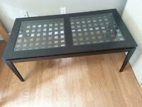 table for sale : Wood and Glass : $25