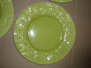 4 Dinner/Salad Plates from Pier 1 : NEW : Never Used : As Shown Cambridge Kitchener Area image 2