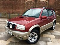 2002 SUZUKI VITARA DIESEL + CENTRAL LOCKING + ELECTRIC WINDOWS + CD + JAN MOT .