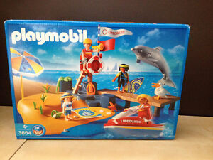 PLAYMOBIL 'The Beach' Set #3664 Discontinued! Great Condition!