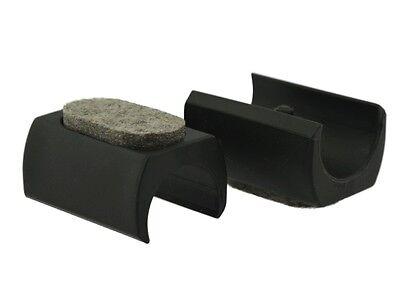 4 x Klemmschalengleiter Filz Ø 23-25mm schwarz Zapfen Filzgleiter Freischwinger