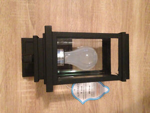 Brand new black outdoor patio or porch light/lantern