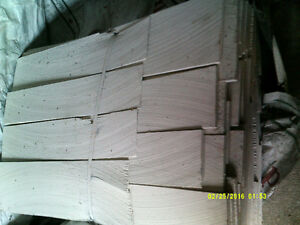 clear verticle grain sidewall shingles $75.00 a bundle covers 30