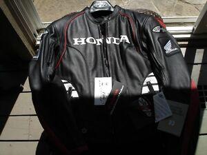 LADIES MOTORCYCLE JACKET, LEATHER HONDA/JOE ROCKET NEW