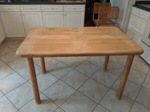 Solid Maple Butcher Block Table for Four
