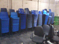 Plastic poly polypropylene Canteen Chairs