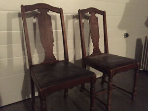 Two Matching Antique Chairs