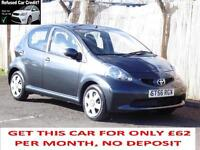 Toyota AYGO 1.4L Diesel Grey,5 Door Hatchback, 74 000 Miles,6 Months AA Warranty