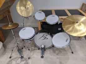Drum kit beginner set - space saving kit