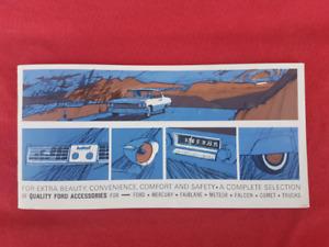 1964 FORD GALAXIE FAIRLANE F100 TRUCK Accessories Brochure
