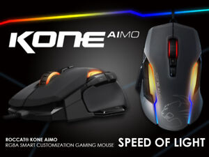 NEW ROCCAT KONE AIMO SPEED OF LIGHT WIRED GAMING MOUSE